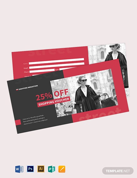 High street Shopping Voucher Template