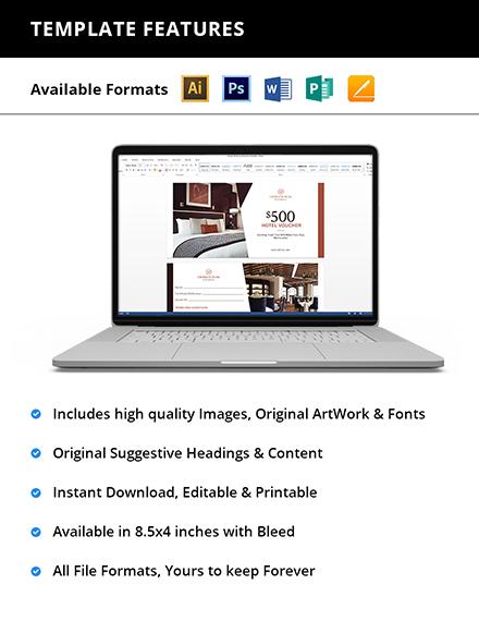 Editable Hotel Promotion Voucher