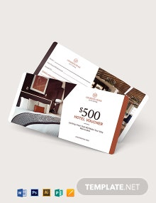 Hotel Promotion Voucher Template