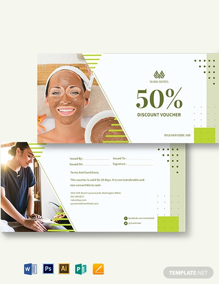 hotel spa voucher template