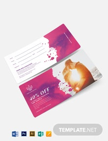I love you Voucher Template