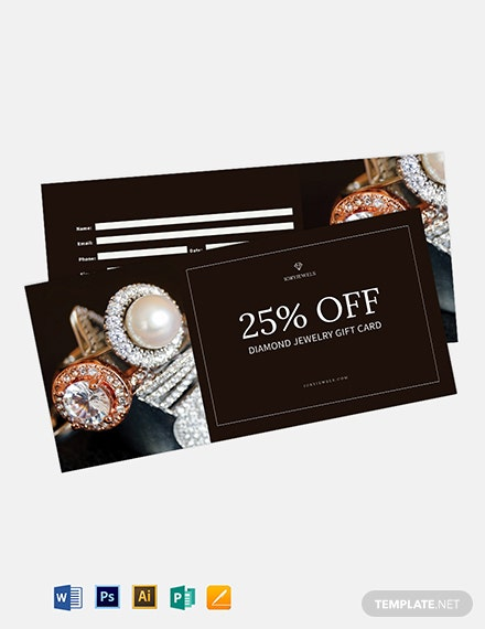 Jewelry Shopping Voucher Template