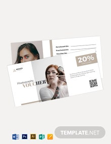 Makeover Photography Voucher Template
