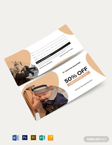 Mothers day Shopping Voucher Template