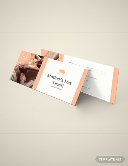 Mothers day Spa Voucher Template