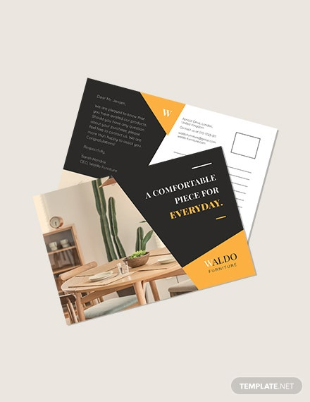 Small Business Marketing Postcard Template