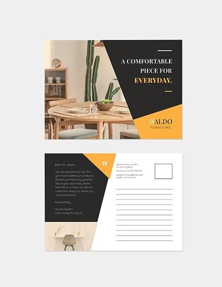 Sample Small Business Marketing Postcard