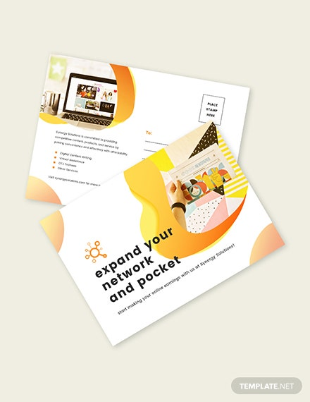 Sample Social Media Marketing Postcard