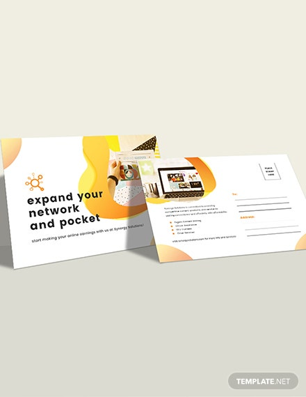 Social Media Marketing Postcard Download