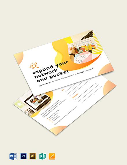 Social Media Marketing Postcard Template