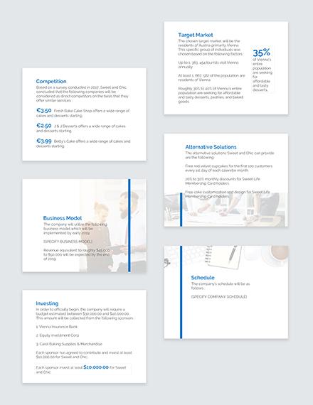 Sample Business Plan Pitch Deck