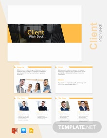 Client Pitch Deck Template