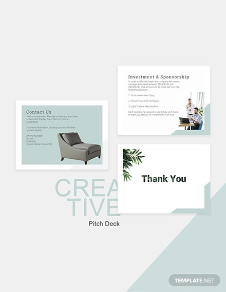 Editable Creative Pitch Deck