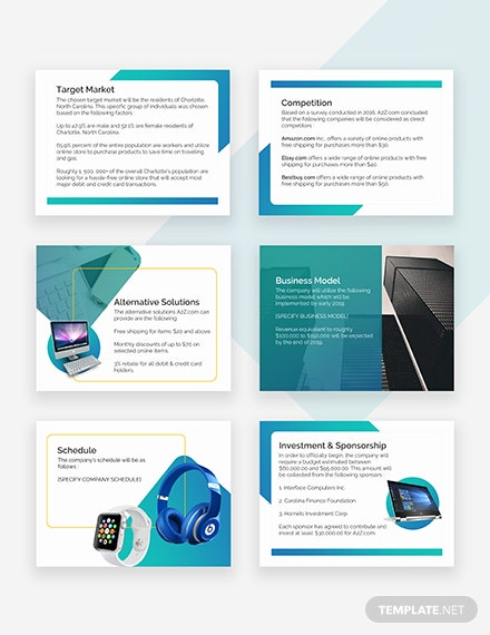 E-Commerce Pitch Deck Template - PowerPoint   Google Slides
