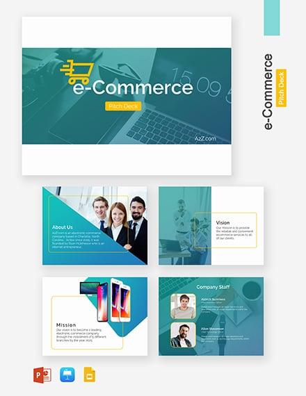 E-Commerce Pitch Deck Template: Download 95+ Presentation Templates