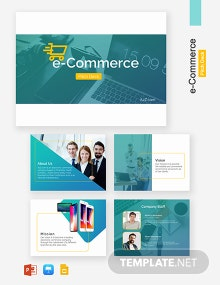 E-Commerce Pitch Deck Template