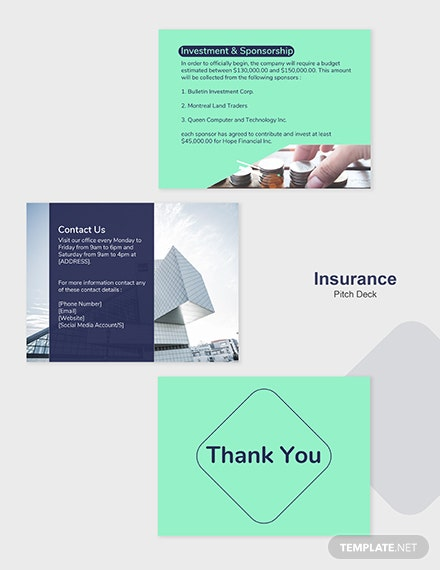 Editable Insurance Pitch Deck