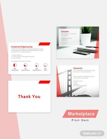 Editable Marketplace Pitch Deck