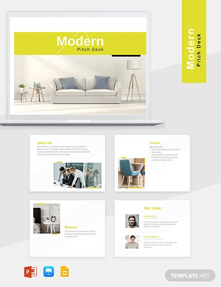 Modern Pitch Deck Template