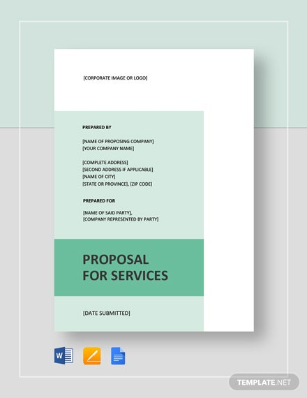 Proposal for Services Template