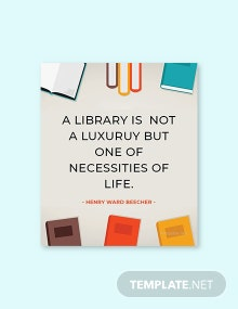 Free National Library Workers Day Quote Template