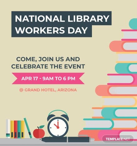 Free National Library Worker's Day Snapchat Geofilter Template