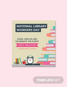 Free National Library Workers Day Snapchat Geofilter Template