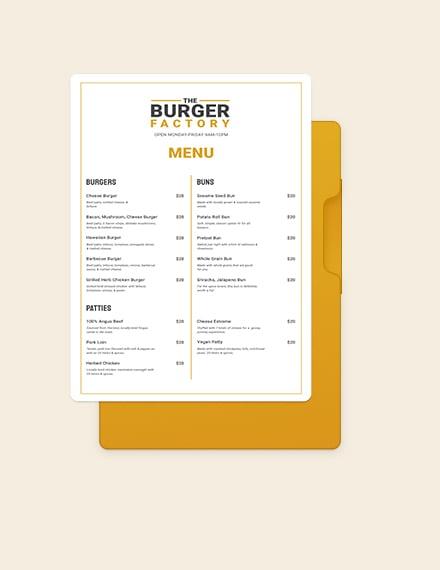 burger poster menu template
