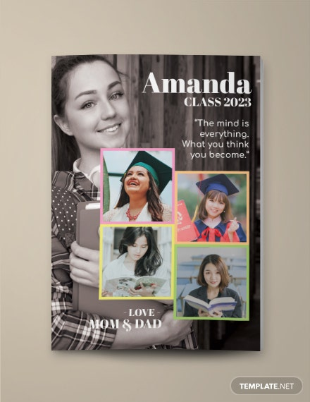 Creative Students Yearbook Ad Template