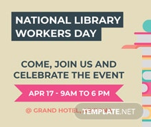 Free National Library Worker's Day Tumblr Banner Template
