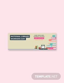 Free National Library Workers Day Tumblr Banner Template