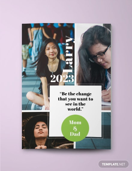 Custom Photo Collage Yearbook Ad Template