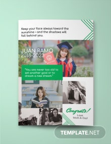 Full Page Senior Yearbook Ad Template