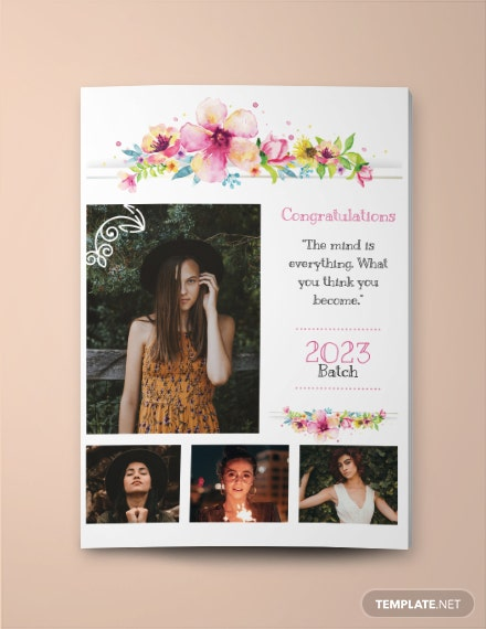 Girls Yearbook Ad Template