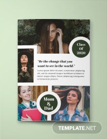 Photo Collage Yearbook Ad Template