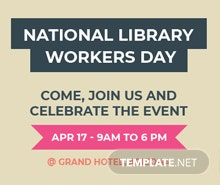Free National Library Worker's Day Tumblr Profile Photo Template
