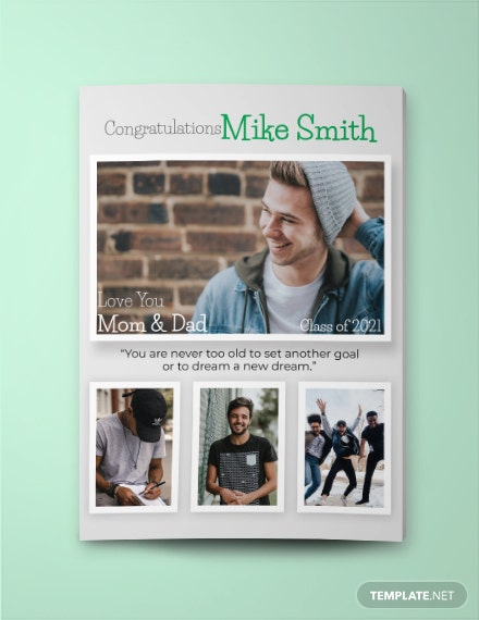 Senior Yearbook Ad full page Template