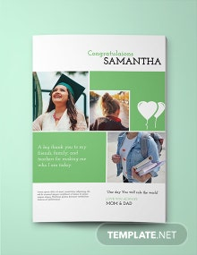 Senior Yearbook Ad Template