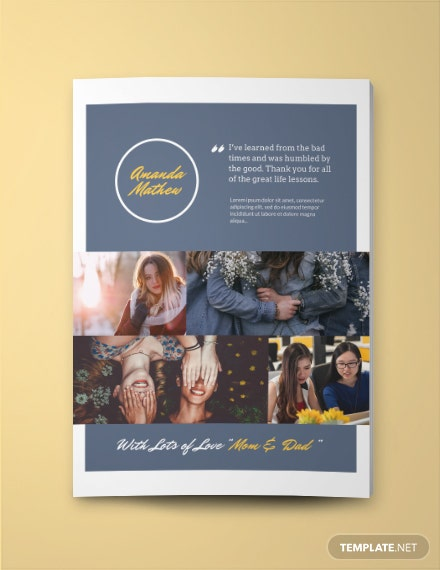 Students Yearbook Ad Template