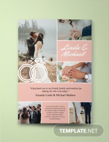 Wedding Yearbook Ad Template