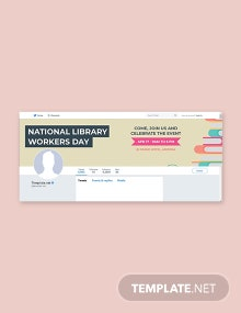 Free National Library Workers Day Twitter Header Cover Template