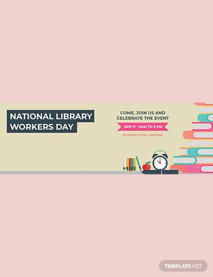 Free National Library Workers Day Twitter Header Cover