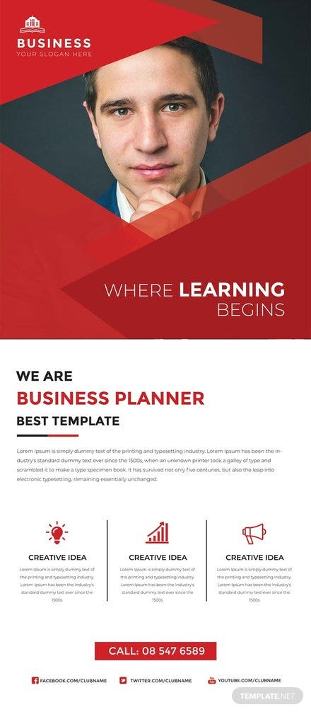 Free Business Roll Up Banner Template