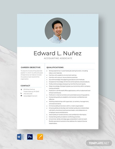 Accounting Associate Resume Template