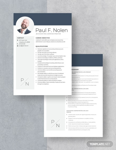Accounting Administrator Resume Download