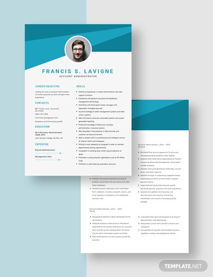 Account Administrator Resume Download