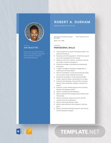 Administrative Pastor Resume Template