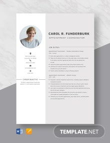 Appointment Coordinator Resume Template