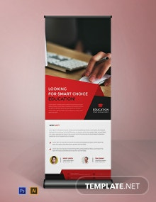 Clean Style Roll Up Banner Template