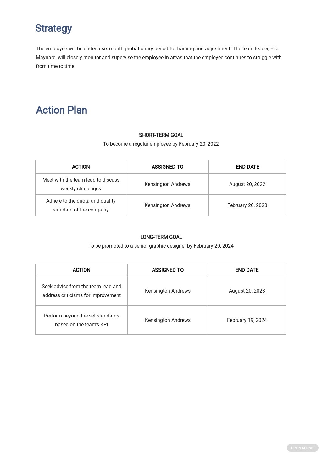 Simple Career Development Plan Template 2.jpe